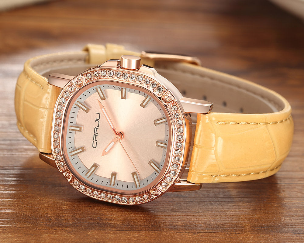 CRRJU™ Pure Elegance Ladies Wrist Watch