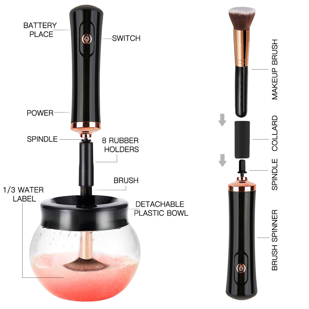 Spin It Clean Electric Makeup Brush Cleaner