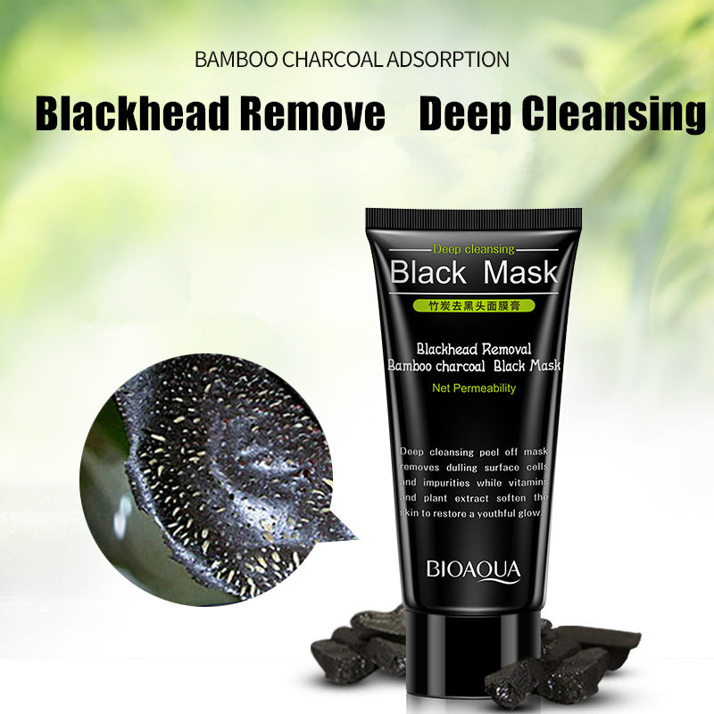 Deep Cleansing Blackhead Removal Bamboo Charcoal Black Mask