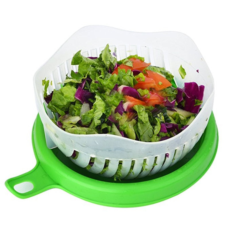 The Easy-Peasy Salad Cutter Bowl