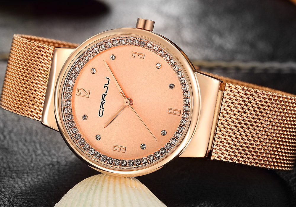 CRRJU™ Everyday Elegance Ladies Wrist Watch