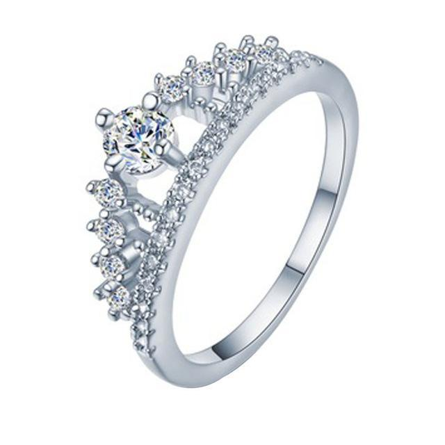 Royale Crystal Crown Ring