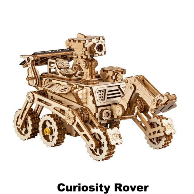 DIY Self-Assembled 3D Solar Powered Space Rovers - Takes 3D Puzzles to the Next Level!