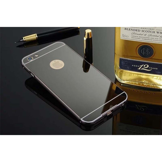 Metal Aluminum Frame Acrylic Mirror Back Cover Case For iPhone & Samsung