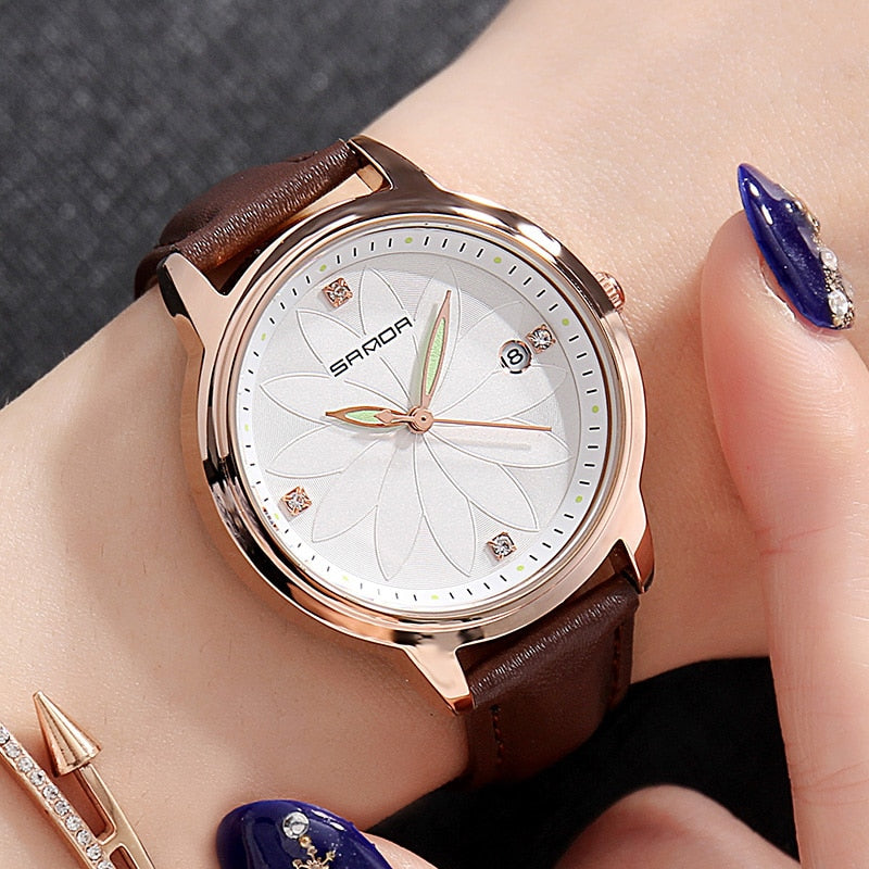 SANDA™ Flower Dial Ladies Watch
