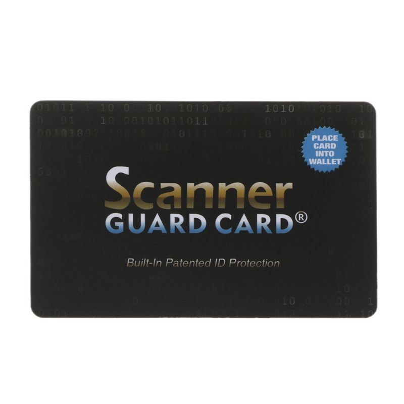 Scanner Guard Card with Built-In Patented RFID/NFC Protection (Buy 3 at $29.99)