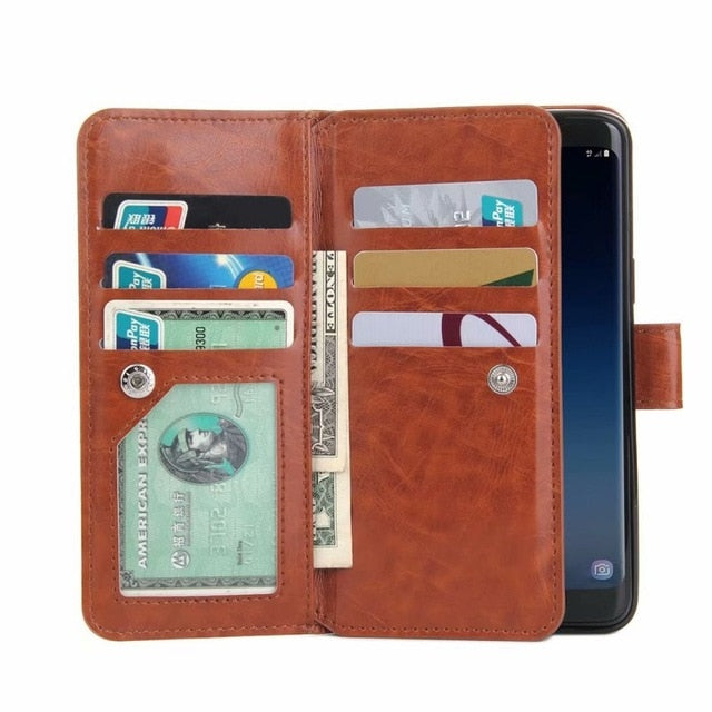 Havana Phone Wallet with Wrist Strap for Samsung A & J Series