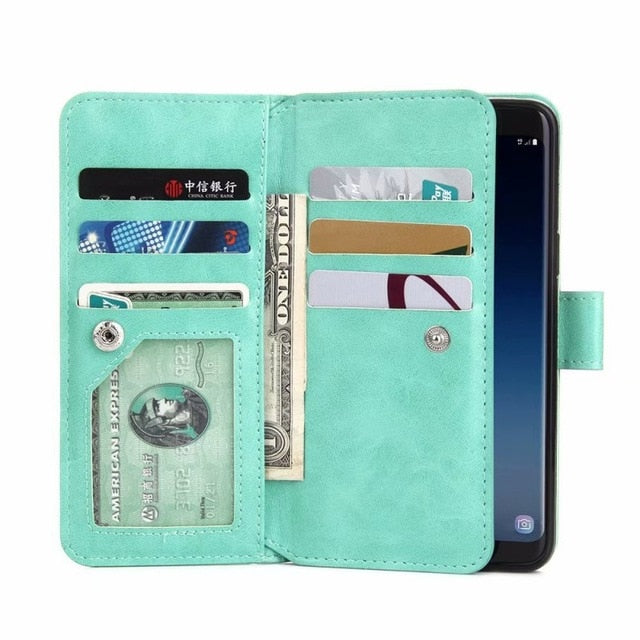 Havana Phone Wallet with Wrist Strap for Samsung Phone