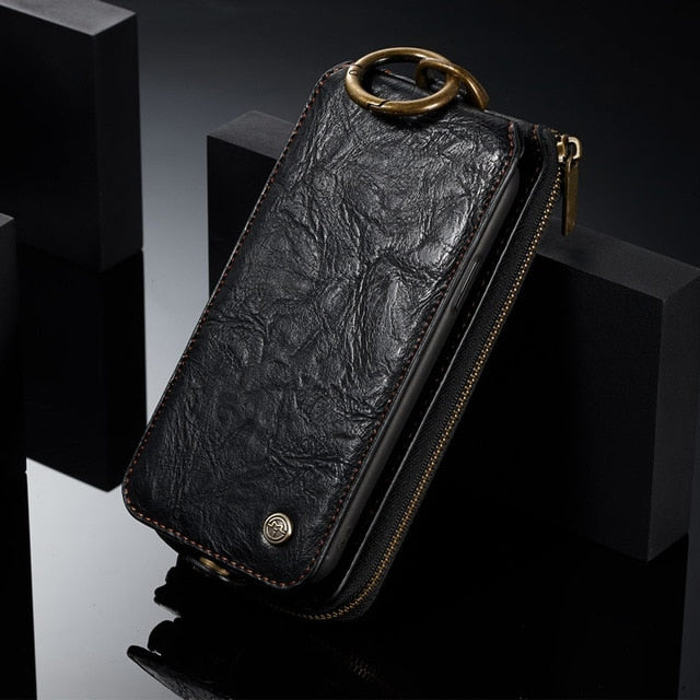 Textured Luxury Phone Wallet for Samsung
