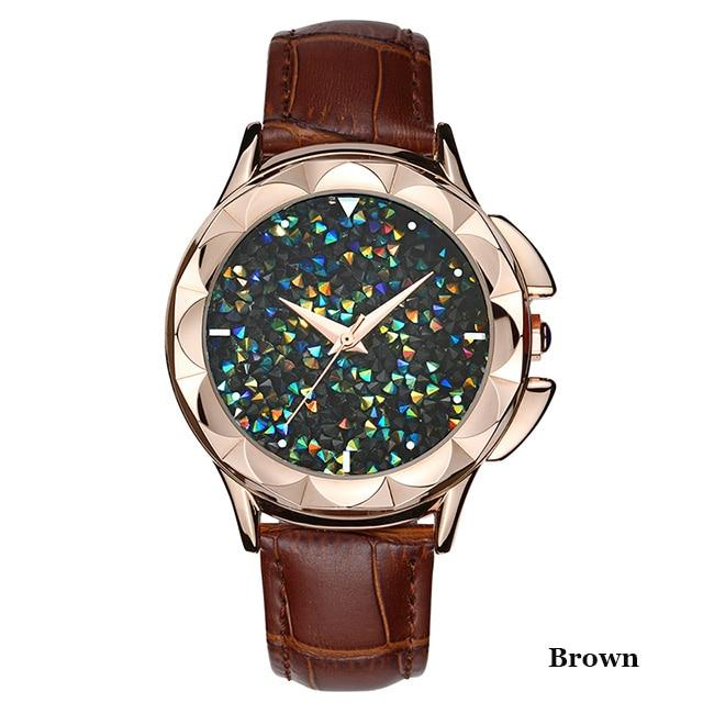 SANDA Confetti Ladies Watch - Brown