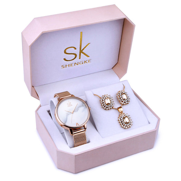 SK™ Regal Ladies Watch and Jewelry Set (2 Styles)