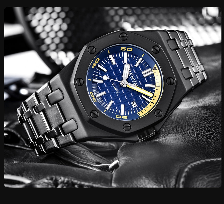 BENYAR™ Rivets Wrist Watch
