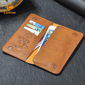 CORNMI Luxury Universal Vintage Flip Wallet For iPhone / Samsung / HTC / Huawei / Sony / LG