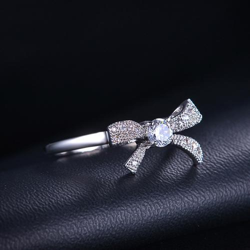 Swiss Crystal Ribbon Ring