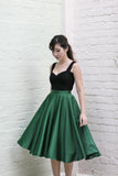 Audrey Swing Skirt In Emerald