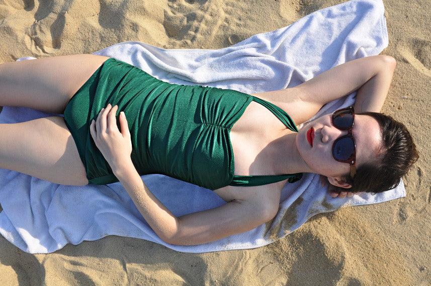 One-piece Swimsuit In Emerald