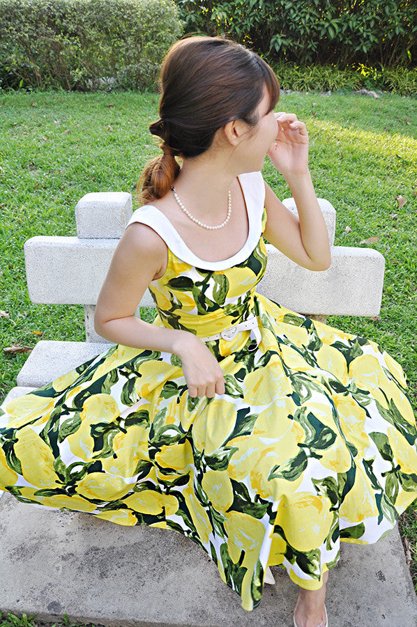Lemon Amelia Dress