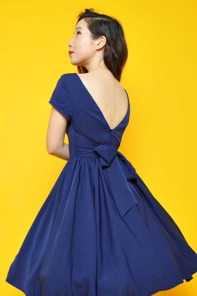Lulu Belle Dress in Navy