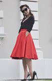 Audrey Swing Skirt In Red - Shopbluebelle - 6