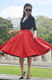 Audrey Swing Skirt In Red - Shopbluebelle - 1