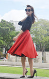 Audrey Swing Skirt In Red - Shopbluebelle - 4