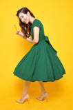Lulu Belle Dress in Emerald