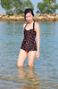 Cherry print one piece swimsuit esther williams
