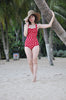 Red White Polka Dots One Piece Swimsuit Esther Williams