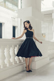 Margaret Toga Dress In Black