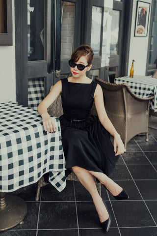 Avice Swing Dress In Black