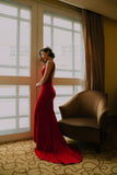 Edith Backless Gown