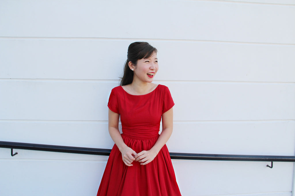 Lulu Belle Dress in Red