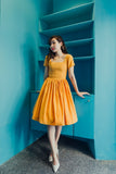 Peggy O Dress in Mustard