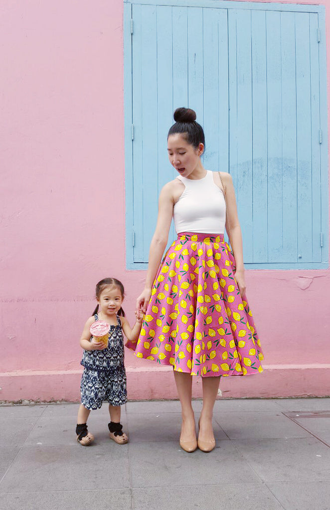 Whimsical Lemon Swing Skirt
