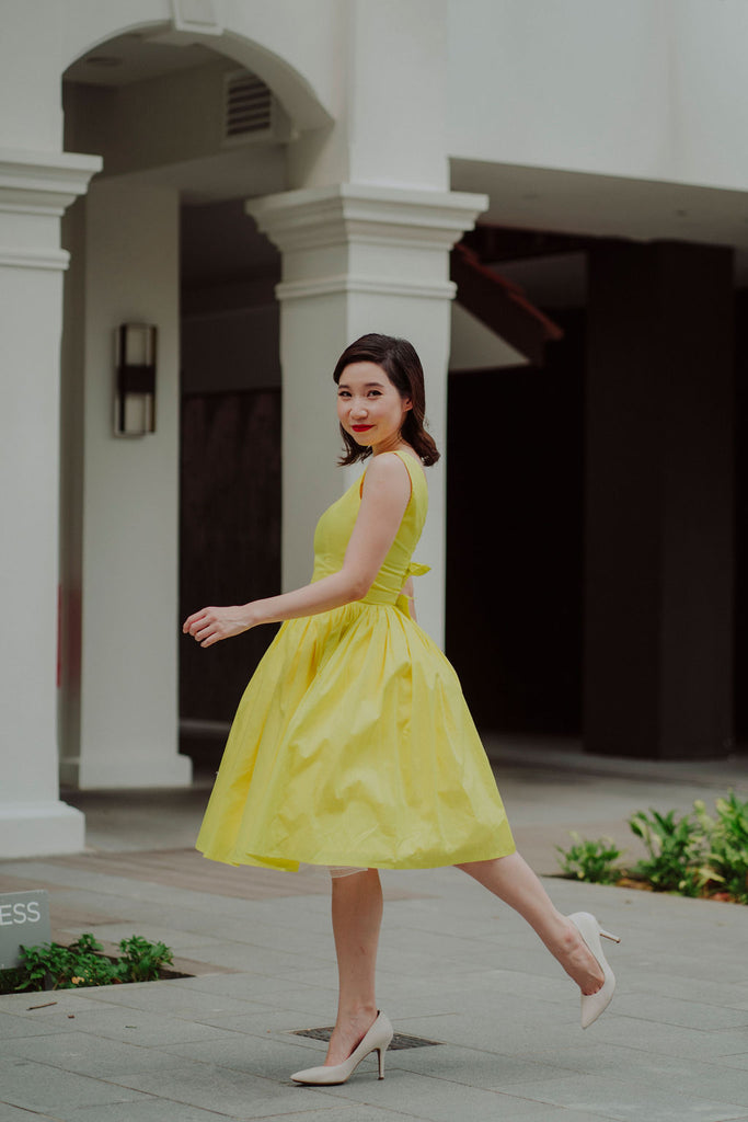Diana Swing Dress in Buttercup