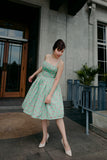 Summer Seafoam Flamingo Dress
