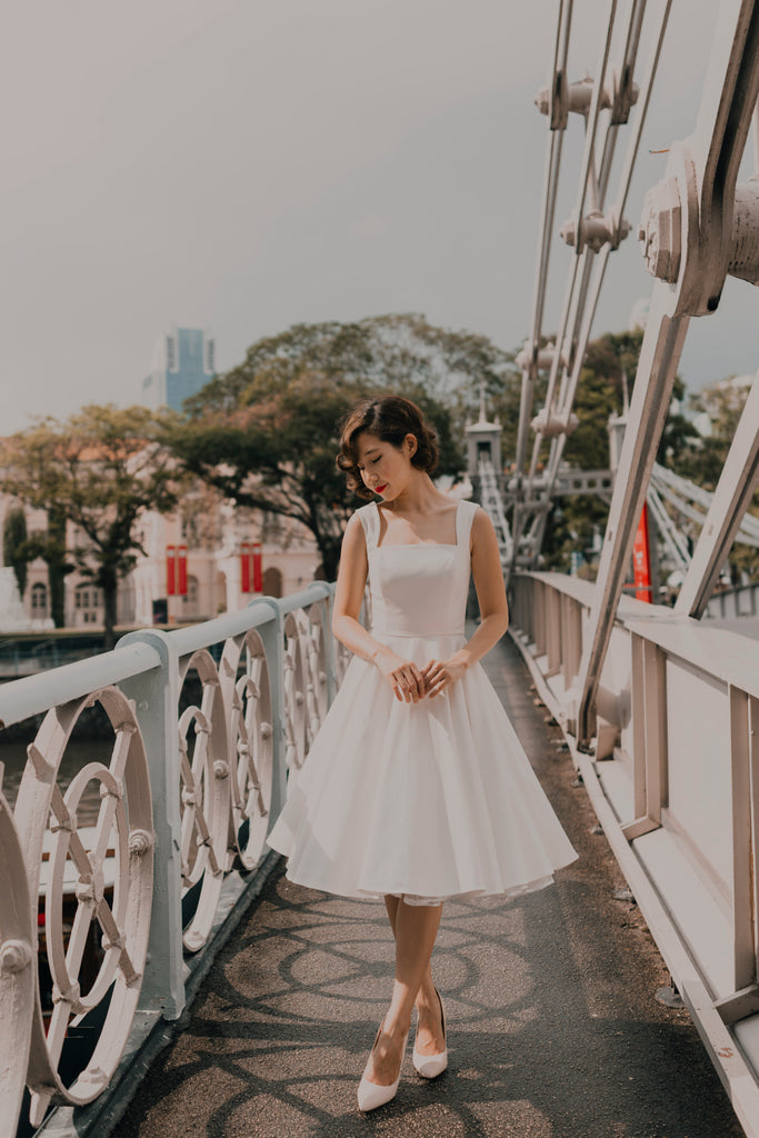 Florence Swing Dress in Off White