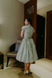Penny Swing Dress in Green Gingham