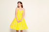 Jane Swing Dress in Yellow & White Polka