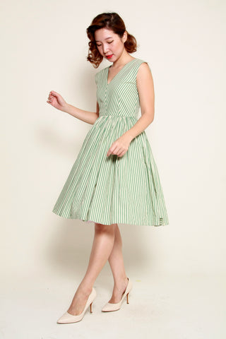 Hana Swing Dress in Green Tea Sakura