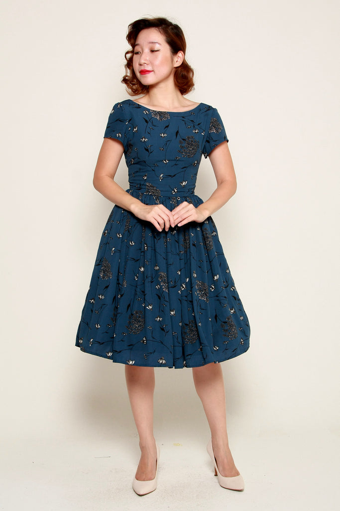 Lulu Belle Dress in Navy Floral