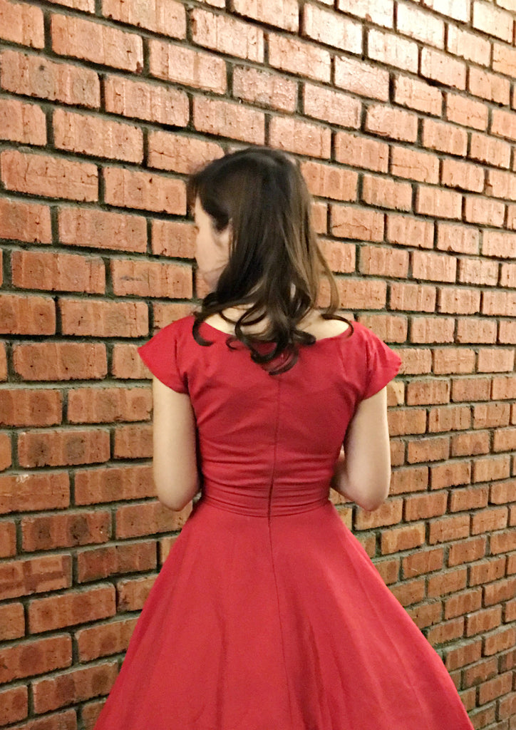 Lou Swing Dress In Red
