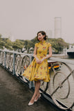 Ah Keow Swing Dress In Mustard