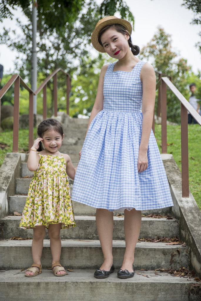 Powder Blue Gingham Piper Dress
