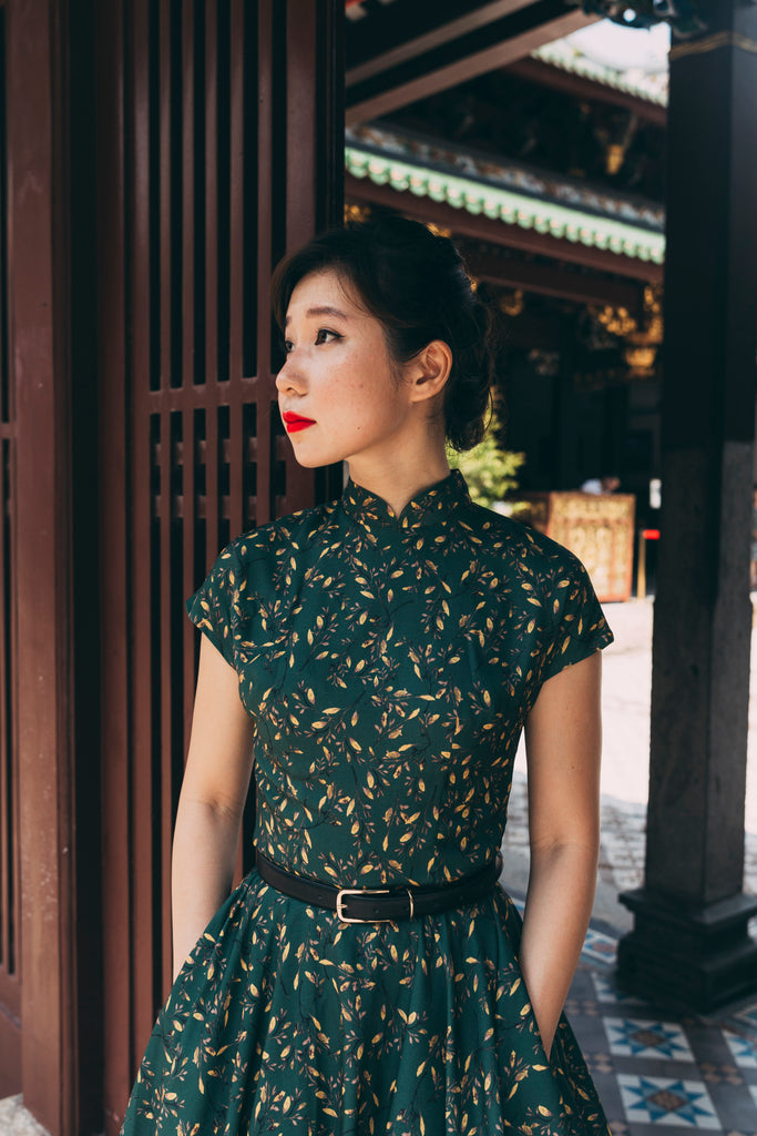 Kooi Lian Swing Dress in Emerald