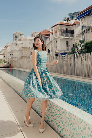 Summer Navy Flamingo Dress