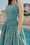 Light Blue Maiz Tea Dress