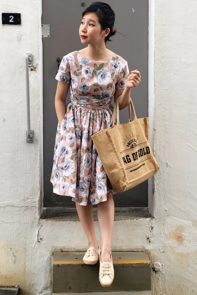Tweedle Swing Dress in Blush Floral