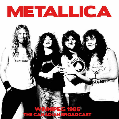 Metallica - Winnipeg 1986 The Canadia Broadcast VINYL DOUBLE 12""