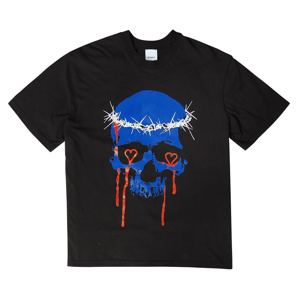 Skull Graffiti T-Shirt Black